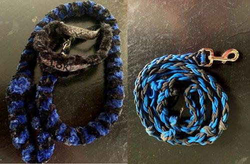 Fleece and Rope Leash Used For Tugging
